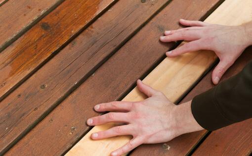 replacing deck board